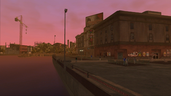 Saints Row loading screen - river side
