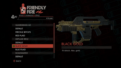 Weapon - Rifles - Burst Rifle - Impulse Rifle - Black Gold