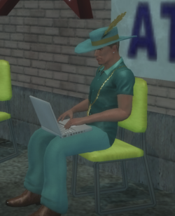 Pimp with laptop