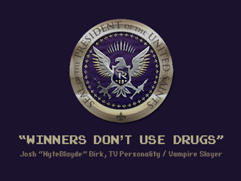 Welcome Back - Saints of Rage - Winners don't use drugs