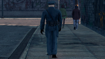 Steelport Police officer - rear