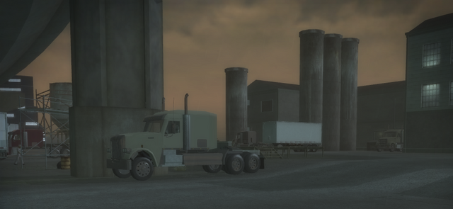 File:Drug Factory - parked trucks in Saints Row 2.png
