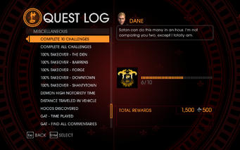 Gat out of Hell Challenge - Complete 10 Challenges