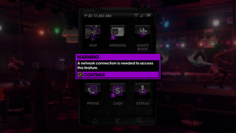 A network connection is needed to use the camera in Saints Row The Third