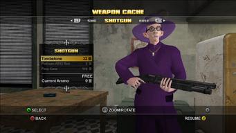 Saints Row Weapon Cache - Shotgun - Tombstone