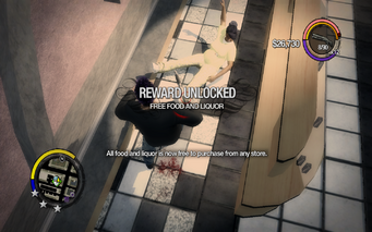 Free Food and Liquor unlocked in Saints Row 2