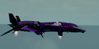Saints Row The Third DLC vehicle - Saints VTOL - hover - right