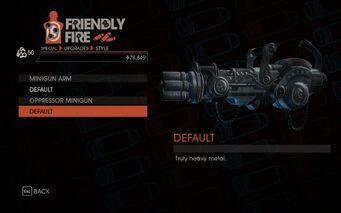 Weapon - Special - Lasergun Arm - Oppressor Minigun - Default