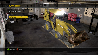 Backhoe - Bonus Derby - Construction
