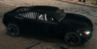 Black Peacemaker with Steelport Police decals in Saints Row The Third