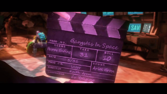 Gangstas in Space ending - clapper
