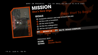 Dex's New Digs objectives - 2nd 5 Goals