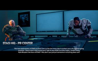 STAG PR center in cutscene