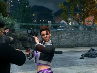 Shaundi with Annihilator in Saints Row The Third