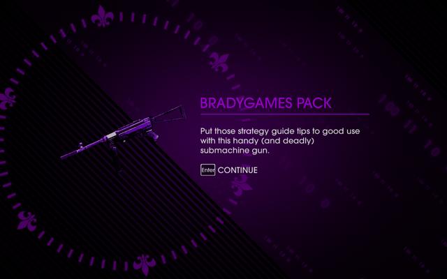 File:Saints Row IV DLC Unlock - Bradygames Pack.png