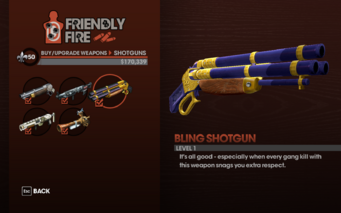 Bling Shotgun - Level 1 description