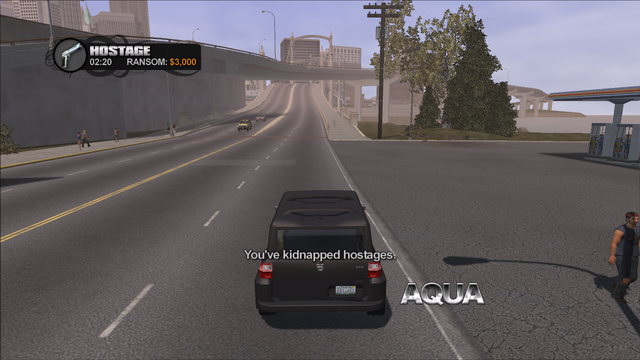 File:Hostage in Saints Row - You've kidnapped hostages - 3000 cash for SUV with 3 passengers.png