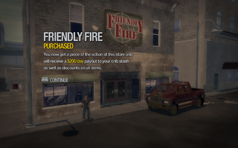 Friendly Fire in Poseidon Alley purchased in Saints Row 2