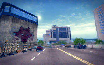 Huntersfield in Saints Row 2 - bridge