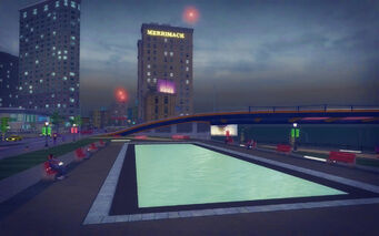 Adept Way in Saints Row 2 - waterfront park