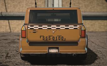 Saints Row IV variants - Kayak Taxi tna - rear