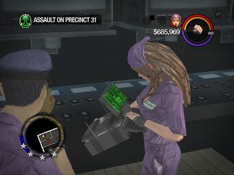 Assault on Precinct 31 - Shaundi hacking with computer object