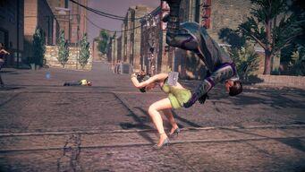 Combat in Saints Row IV - Super powerbomb - start