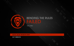Bending the Rules fail screen