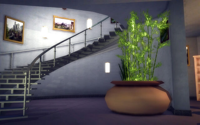 File:Hotel Penthouse - Classy - stairs and plant.jpg