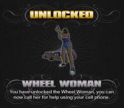 Wheel Woman unlock screen