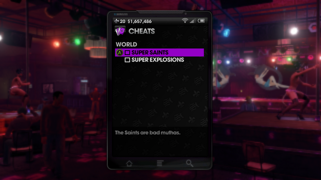 File:World Cheats menu in Saints Row The Third.png