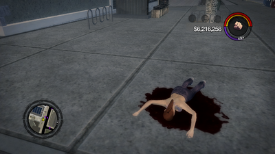 Downtown suicide jumper in Saints Row 2