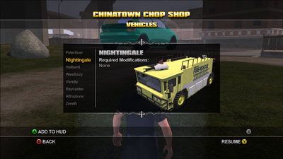 Saints Row Chop Shop - Chinatown - Nightingale