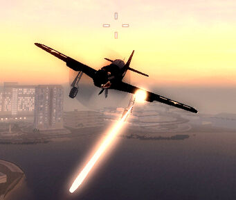 Wolverine - Military variant firing Mounted .50 cal while flying - front
