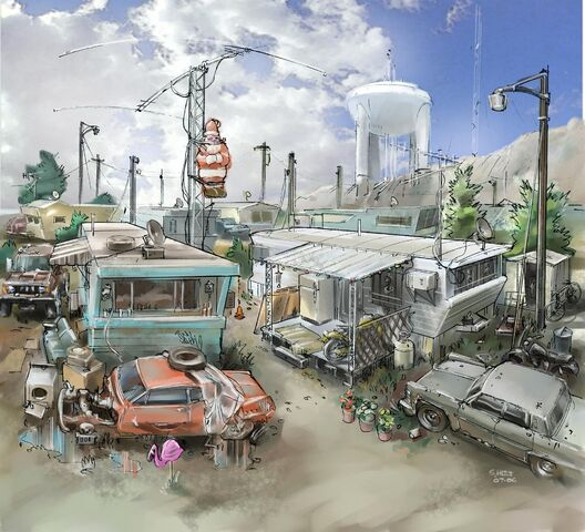 File:Trailer Park District Concept Art - trailers and water tower.jpg