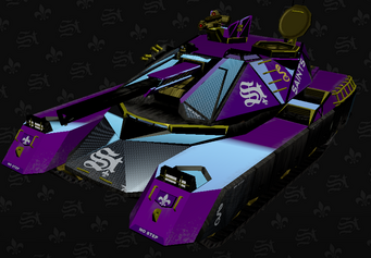 Saints Crusader in the Saints Row The Third Garage