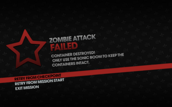 Zombie Attack failed - container destroyed