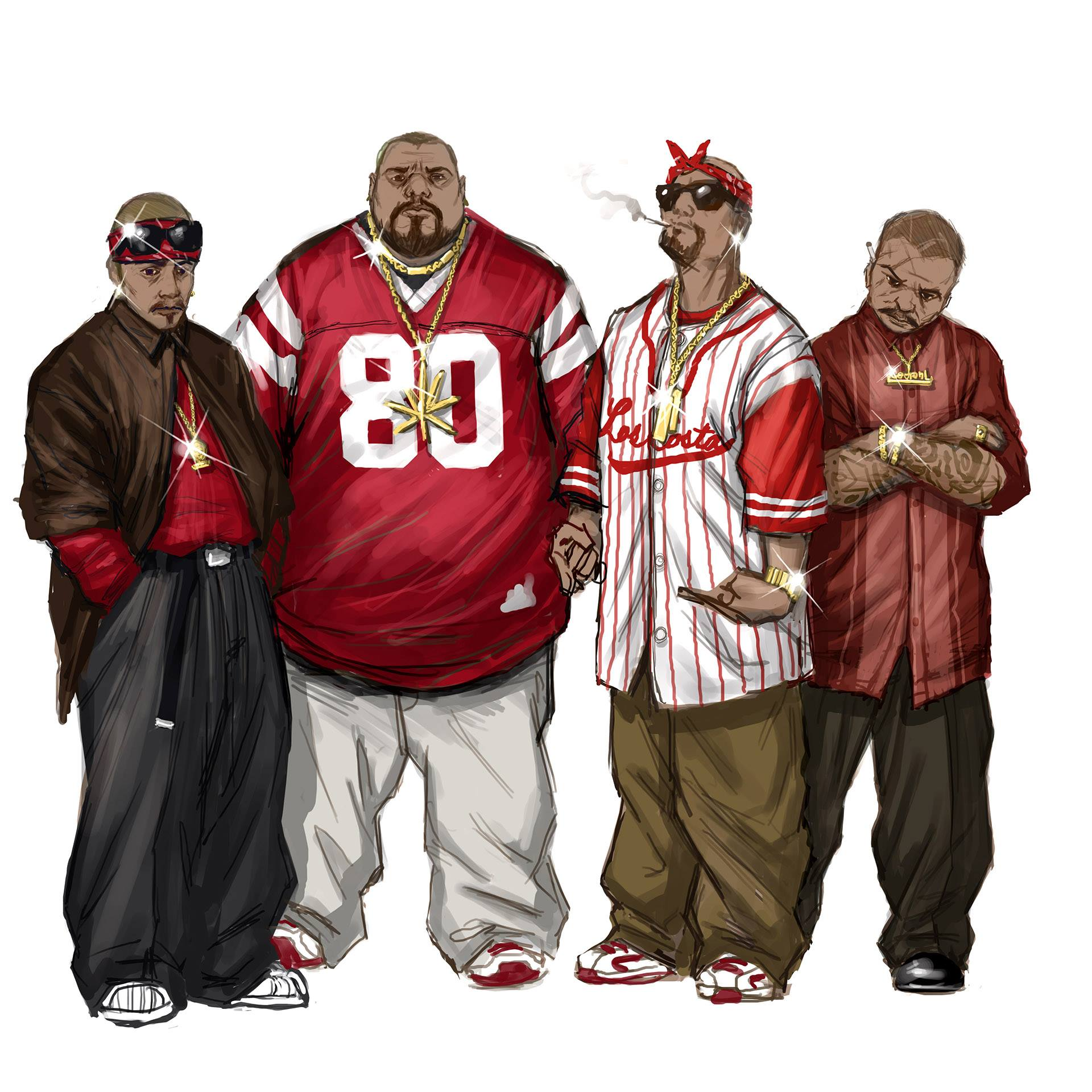 Image - Los Carnales Concept Art - four gang members.jpg | Saints Row Wiki | FANDOM powered by Wikia
