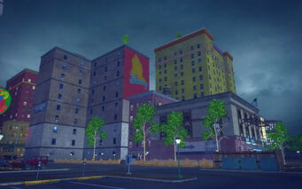 Cecil Park in Saints Row 2 - parking lot