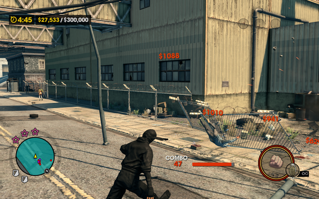 File:Mayhem - destroying fences in Saints Row The Third.png