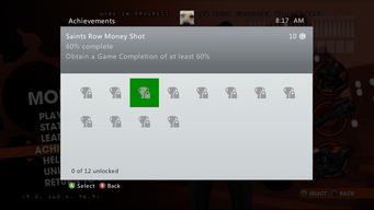 Saints Row Money Shot Achievement - 60% complete