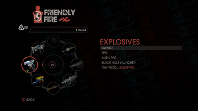 Weapon - Explosives - Menu