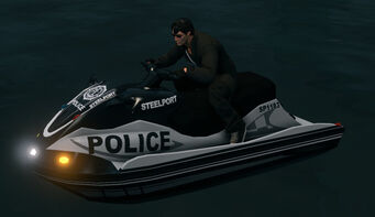 Steelport Police Shark - front left with lights