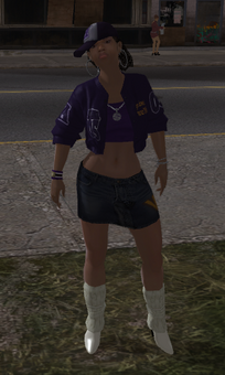 Aisha as a homie in Saints Row
