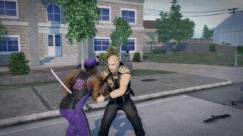 Samurai Sword attack - Slow Stab Through the Chest - behind victim