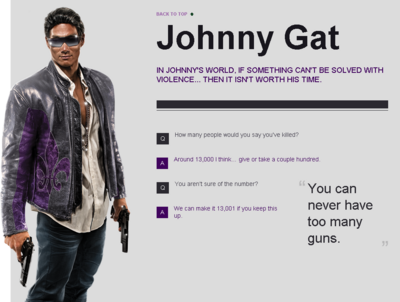 Saints Row website - Gangs - The Saints - Johnny Gat