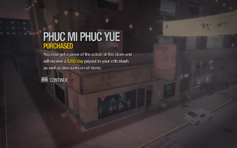 Phuc Mi Phuc Yue in Little Shanghai purchased in Saints Row 2