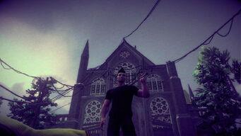 Saints Row Church - outside in Saints Row IV