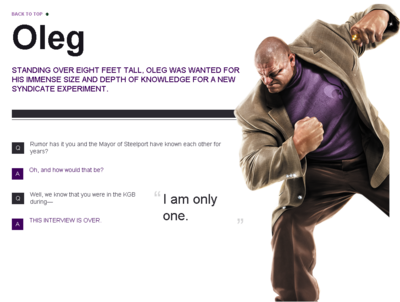 Saints Row website - Gangs - The Saints - Oleg