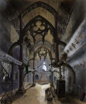 Saints Row Church - Interior Concept Art